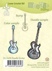 55.1628 ~ DOODLE GUITAR  ~ Leane Creatief Clear Stamp