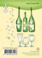 55.2403 ~ WINE PARTY  ~ Leane Creatief Clear Stamp