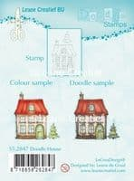 55.2847 ~ DOODLE HOUSE  ~ Leane Creatief Clear Stamp