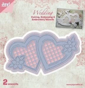 6002-1010 ~ WEDDING 2 die set ~JoyCraft Cutting, Embossing + Embroidery by Chrissie