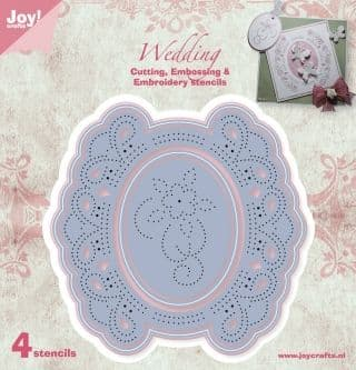 6002-1011 ~ WEDDING - 4 dies ~ JoyCraft Cutting, Embossing + Embroidery