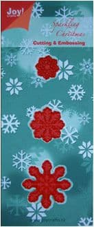 6002/2001 ~ CHRISTMAS SNOWFLAKES ~ JOY CRAFTS Cut+Emboss dies