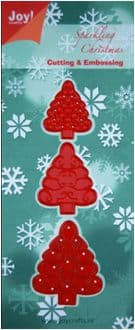 6002/2002 ~ CHRISTMAS TREES ~ JOY CRAFTS Cut+Emboss dies