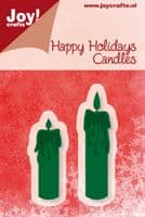 6002/2031 ~ HAPPY HOLIDAYS CANDLES ~ JOY CRAFTS Cut+Emboss die