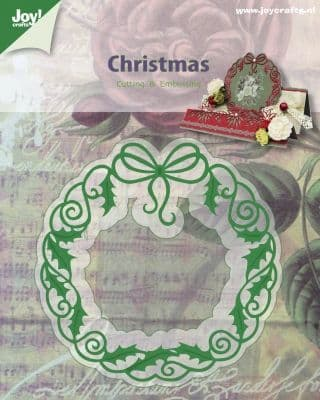 6002/2040 ~ CHRISTMAS WREATH ~ JOY CRAFTS Cut+Emboss die