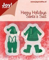 6002/2043 ~ HAPPY HOLIDAYS SANTA'S SUIT ~ JOY CRAFTS Cut+Emboss dies
