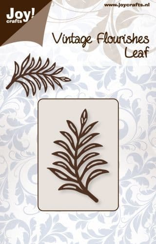 6003/0047 ~ LEAF ~ VINTAGE FLOURISHES  ~  JOY CRAFTS Cut & emboss die