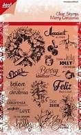 6410/0114 ~ MERRY CHRISTMAS ~ JOYCRAFTS CLEAR STAMP