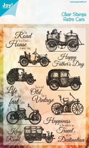 6410/0323 ~ RETRO CARS ~ JOYCRAFTS CLEAR STAMP