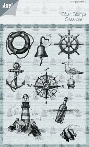 6410/0345 ~ SEASHORE (PICTURES) ~ JOYCRAFTS CLEAR STAMP