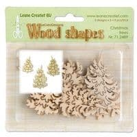 71.2489 ~ CHRISTMAS TREES - WOOD SHAPES ~ by Leane Creatief
