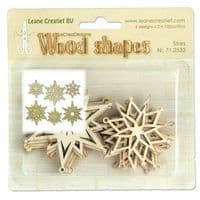 71.2533 ~  STARS - WOOD SHAPES  ~  by Leane Creatief