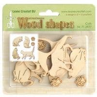 71.2977 ~  Cats - WOOD SHAPES  ~  by Leane Creatief