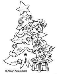 A004 CHARLOTTE w. Christmas tree Whiff of Joy rubber stamp