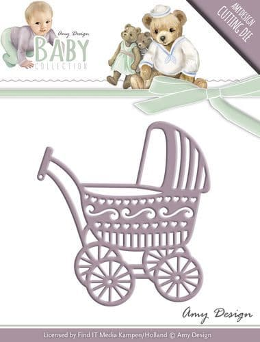ADD10054 ~ Baby Collection ~ Baby Carriage die ~ Amy Design