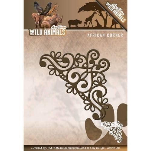 ADD10108 ~ African  Corner  die ~ Wild Animals ~ Amy Design