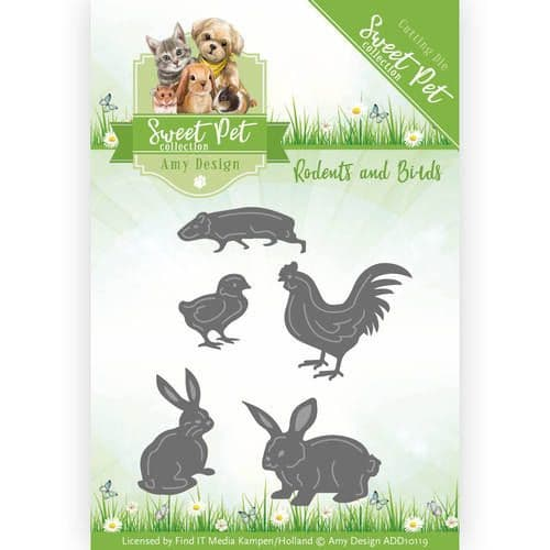 ADD10119 ~ Pets Cutting Die ~ Rodents and Birds ~ Amy Design