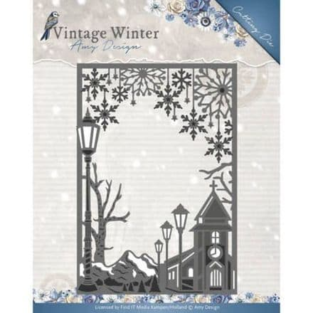 ADD10121 L ~ Vintage Frame Straight Die ~ Vintage Winter  ~ Amy Design