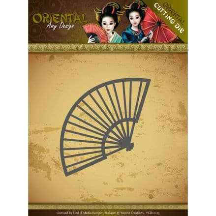 ADD10145  ~ Chinese Fan ~ Oriental die ~ Amy Designs