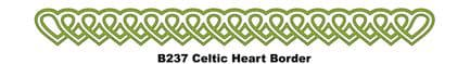 B237 ~ CELTIC HEART BORDER ~ CHEERY LYNN DIE