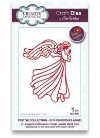 CED3047 ~ 2016 CHRISTMAS ANGEL ~ Festive Collection ~ Sue Wilson