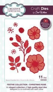 CED3052 ~ CHRISTMAS ROSE ~ Festive Collection ~ Sue Wilson