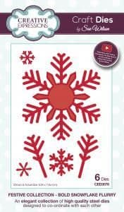 CED3076 ~ BOLD SNOWFLAKE FLURRY ~ Festive Collection ~ Sue Wilson