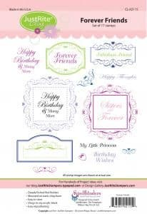 CL-02115 ~ Forever Friends  ~ JustRite cling stamp set