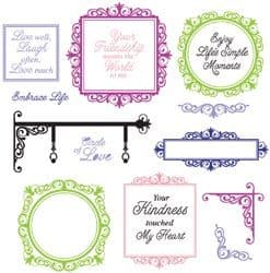 CL-02125 ~ Signs of Life ~ JustRite cling stamp set