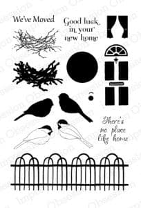 CL393 ~ NO PLACE LIKE HOME ~ Clear self-cling  Impression Obsession stamps