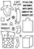 CL436 ~  NAUGHTY OR NICE  ~  Poppystamp