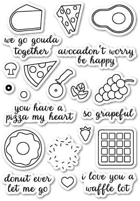 CL5156 ~   WE GO GOUDA TOGETHER ~  Open Studio Clear Stamps