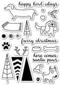 CL5162 ~ SANTA PAWS ~  Open Studio Clear Stamps