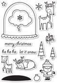 CL5180 ~ SNOWGLOBE WISHES ~  Open Studio Clear Stamps