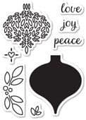 CL5184 ~  DELIGHTFUL ORNAMENT ~  Open Studio Clear Stamps