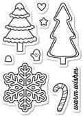 CL5185 ~ CHRISTMAS COOKIES ~  Open Studio Clear Stamps