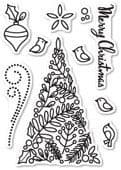 CL5189 ~ BOTANICAL CHRISTMAS TREE ~  Open Studio Clear Stamps