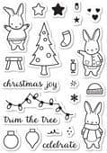CL5191 ~  HOLIDAY BUNNIES ~  Open Studio Clear Stamps