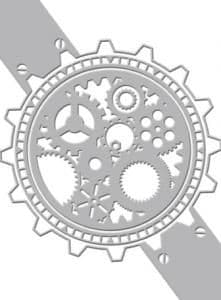 CO723035 ~ TIMEPIECE ~ Couture Creations World Fair embossing folder