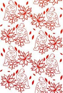CO723592 ~ POINSETTIA LULLABY ~ Wrapped in Joy Collection