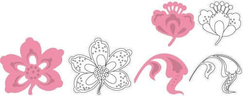 COL1303 ~ FLOWERS AND LEAF ~ Marianne Design Collectables