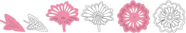 COL1304 ~ FLOWERS and LEAF ~ Marianne Design Collectables