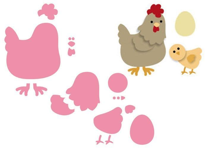 COL1351 ~ MOTHER HEN and CHICK ~ Marianne Design Collectables