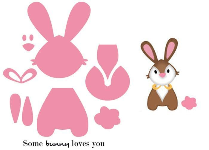COL1354 ~ BUNNY ~ Marianne Design Collectables