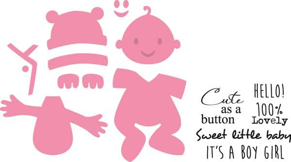 COL1387~ ELINE'S BABY ~ Marianne Design Collectables