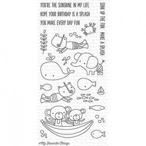 CS-135 ~ Soak up the Fun ~ CLEAR CLING BACKED STAMPS~ MY FAVORITE THINGS