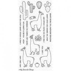 CS-145 ~ Llama Love ~ CLEAR CLING BACKED STAMPS~ MY FAVORITE THINGS