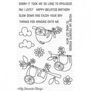 CS-155 ~ Sweet Sloths ~ CLEAR CLING BACKED STAMPS~ MY FAVORITE THINGS