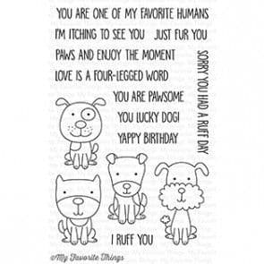 CS-186 ~ Four-Legged Friends ~ CLEAR CLING BACKED STAMPS~ MY FAVORITE THINGS