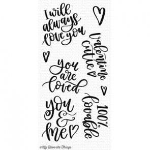 CS-252 ~ 100% Loveable ~ CLEAR CLING BACKED STAMPS~ MY FAVORITE THINGS